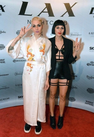 Nina Sky and DJ Reach Celebrate NYE and LAX Nightclub inside Luxor Hotel & Casino