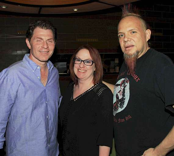 Bobby Flay with Al Mancini and his wife