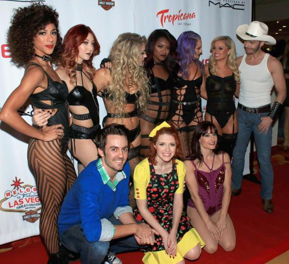 """The cast of """"Cherry Boom Boom"""" at Grand Opening"""
