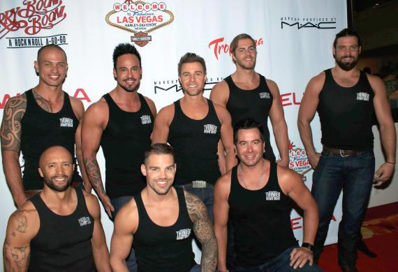 """Cast of """"Thunder from Down Under"""" at """"Cherry Boom Boom"""" Grand Opening"""