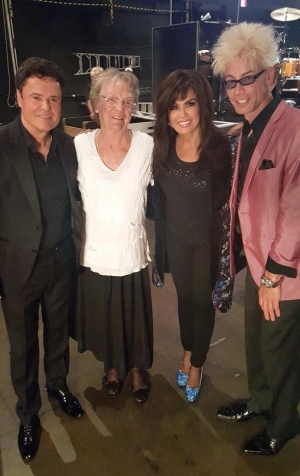 Murray Visits Donny and Marie Backstage at The Flamingo Las Vegas