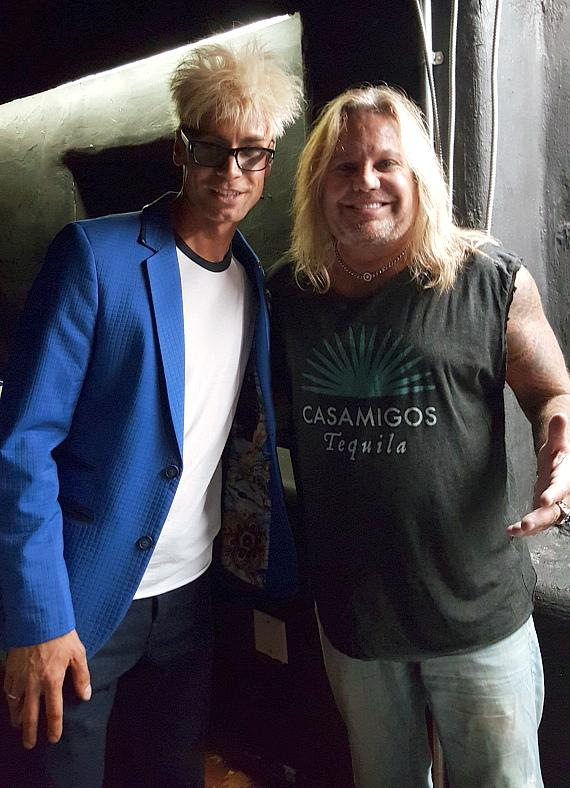 Magician Murray Sawchuck and Rocker Vince Neil Perform for Private Party