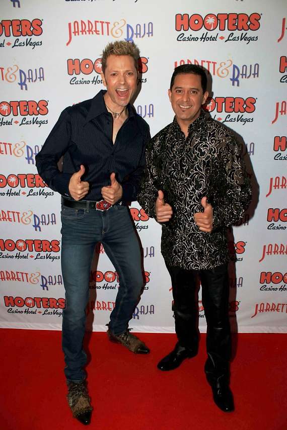 "Jarrett & Raja perform ""Jarrett & Raja - Magician vs. Maestro"" at Hooters Casino Hotel"