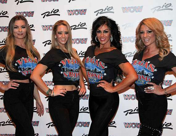Cast of Sexxy at WOW Las Vegas debut at Rio All-Suite Hotel & Casino