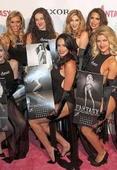 "Ladies of FANTASY Unveil 2018 Calendar ""Black & White and Nude All Over"" at Luxor Resort & Casino in Las Vegas"
