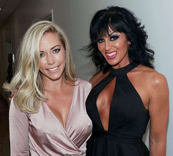 Kendra Wilkinson and Jennifer Romas