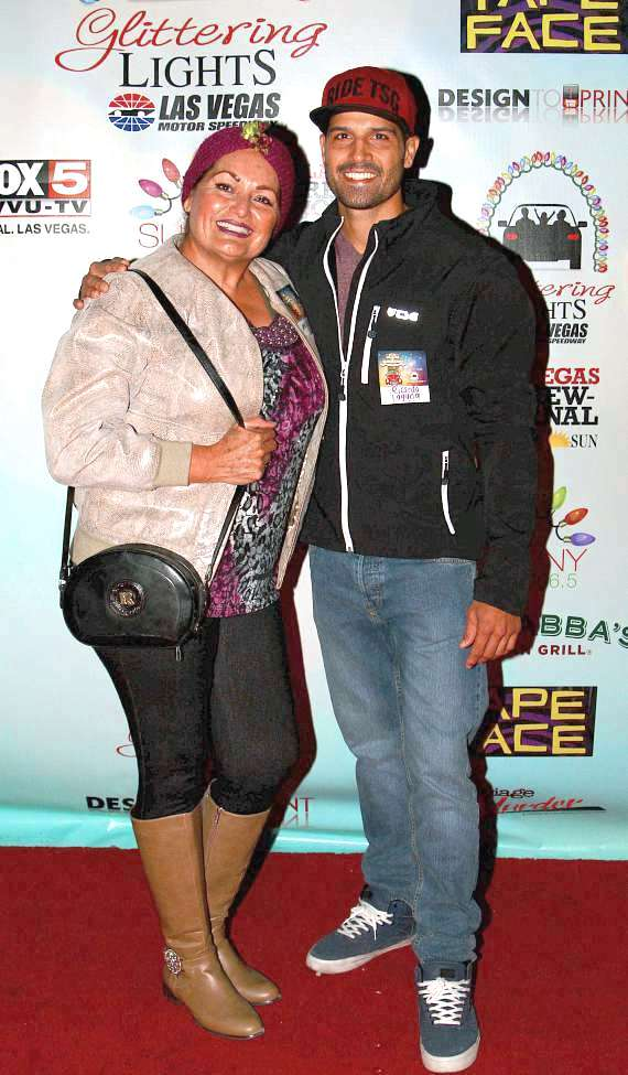 BMX expert Ricardo Laguna (R) with his mom