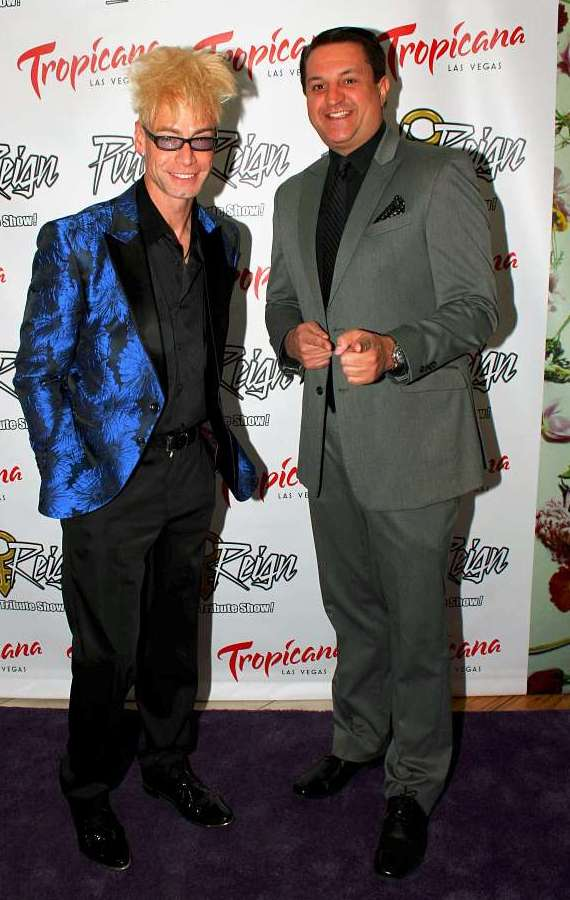 "Planet Hollywood headliners Murray SawChuck and Douglas ""Lefty"" Leferovich at Purple Reign grand opening"