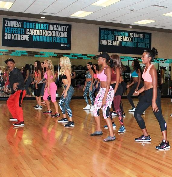 2017 Miss Nevada USA and Miss Nevada Teen USA contestants enjoy a high-energy Zumba class at Life Time Athletic Green Valley