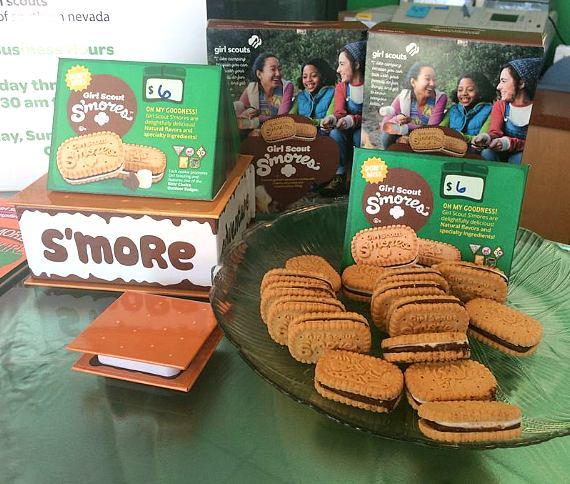 This year's chosen signature Girl Scout Cookie, the Girl Scout S'mores