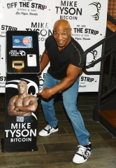 Mike Tyson Unveils World's First Official Mike Tyson Bitcoin ATM at Off The Strip at The LINQ