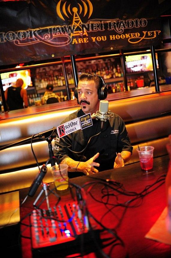 Chef Chef Mike Minor goes 'On Air with Robert & CC' at PBR Rock Bar