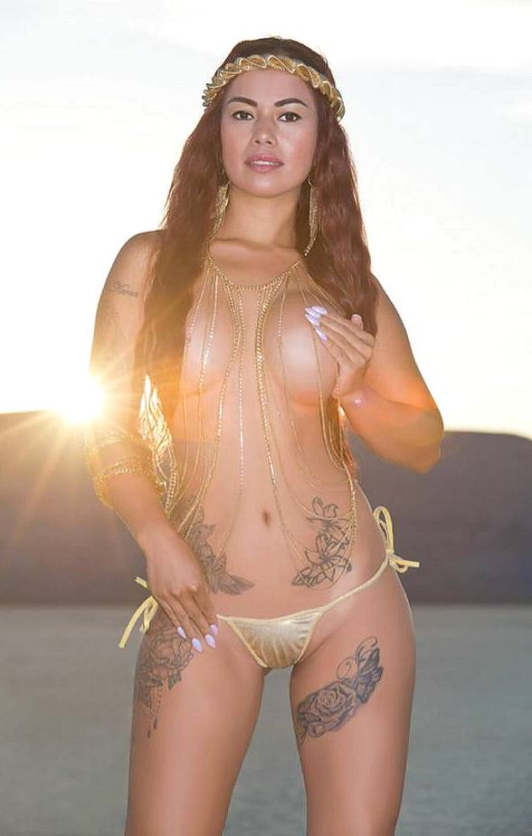 Model/Dancer Dixie Miranda's Desert Photo Shoot at Sunset