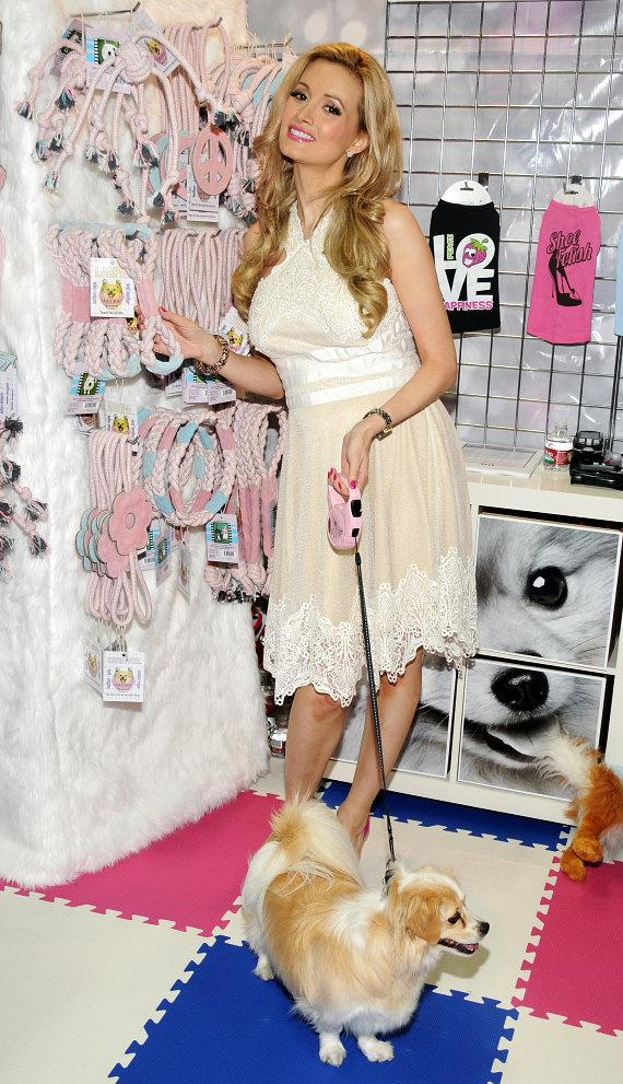 "Holly Madison launches ""Lucky Pet Products"" at SuperZoo at Mandalay Bay"