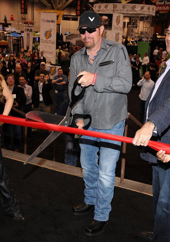 Toby Keith cuts the ribbon to celebrate opening of 27th Annual Nightclub & Bar Convention