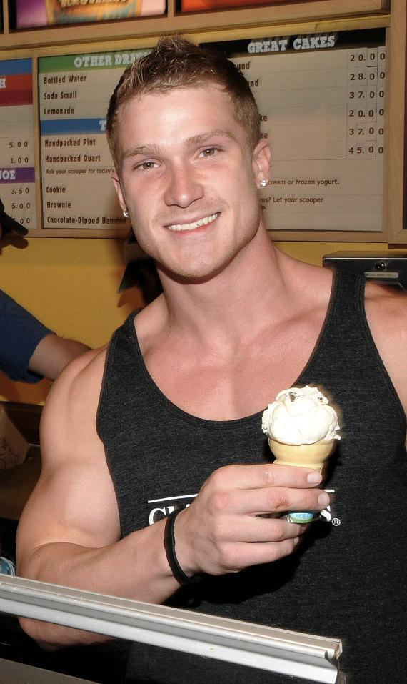 Chippendales cast members scoop Ice Cream for Charity at Ben & Jerry's
