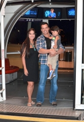 Chippendales Celebrity Guest Host Antonio Sabato, Jr. Goes Sky High from atop the High Roller Observation Wheel