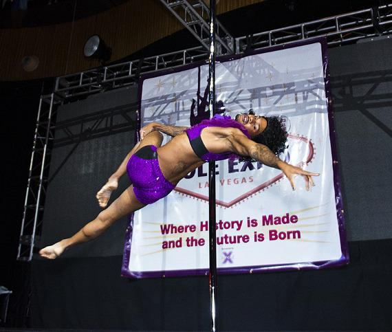 Josiah 'Bad Azz' Grant (Pole Star from USA) performing 'Prince'