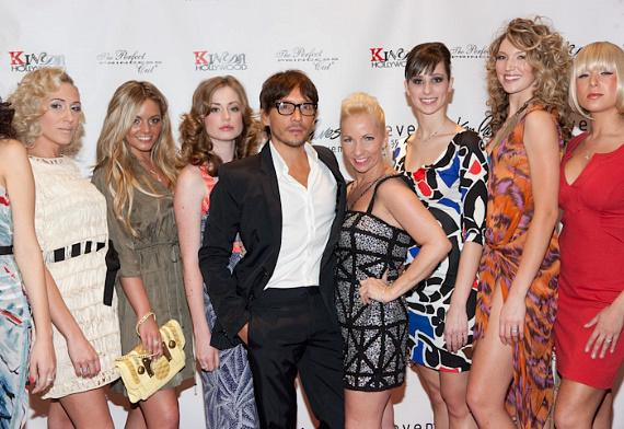 Ken Paves with Eleven Spa owner Nicole Oden and models