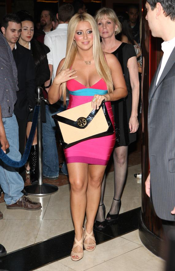 Aubrey O'Day celebrates 25th birthday at JET Nightclub