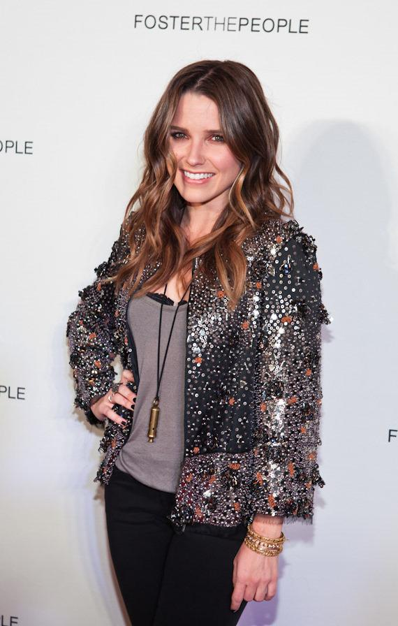 Sophia Bush on the red carpet at Marquee Nightclub