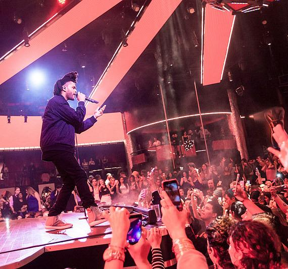 The Weeknd performs Live Concert at Drai's Nightclub