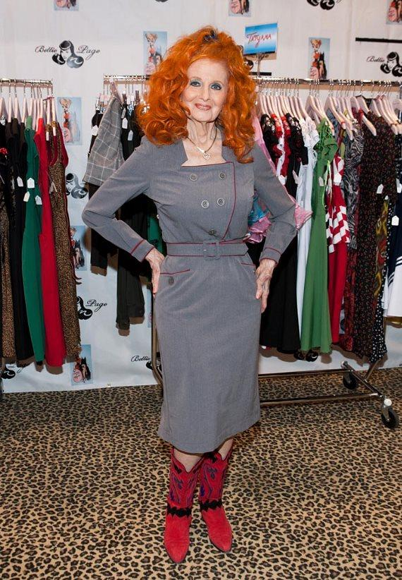 Tempest Storm at Bettie Page Clothing at MAGIC
