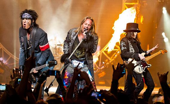 Motley Crue performs at The Joint at Hard Rock Hotel in Las Vegas