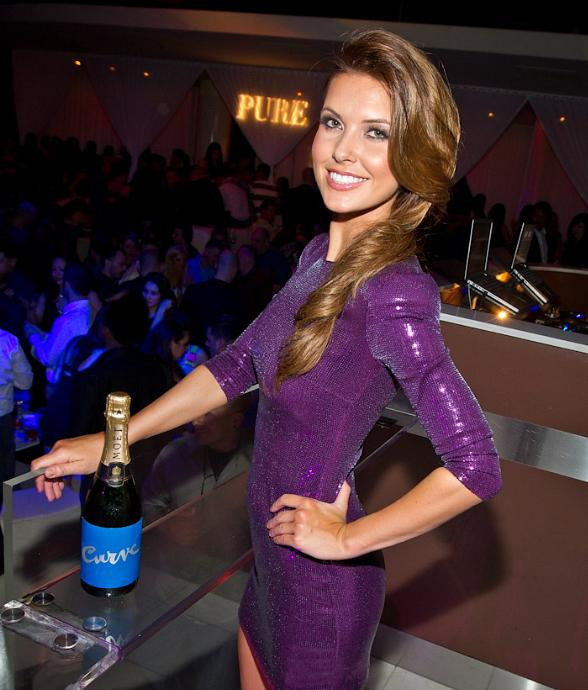 Audrina Patridge Celebrates Launch of 'Curve Appeal for Men' at PURE Nightclub