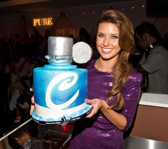 Audrina Patridge with cake at PURE Nightclub