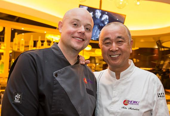 Chef Nobu Matsuhisa at the pre-opening breakfast at Nobu Restaurant and Lounge Caesars Palace