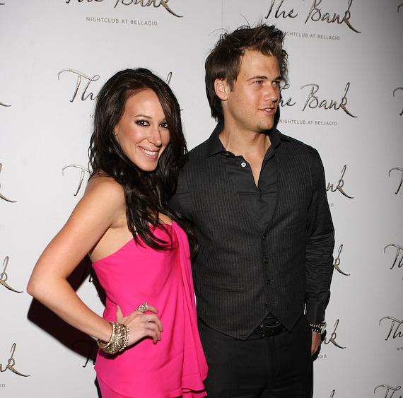 Haylie Duff and Nick Zano at The Bank