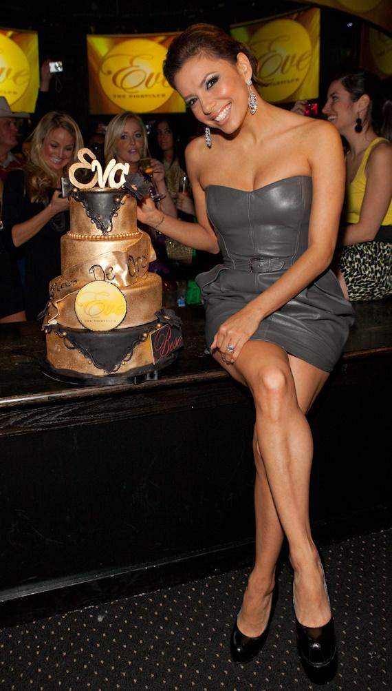 Eva Longoria Parker celebrates at Eve Nightclub