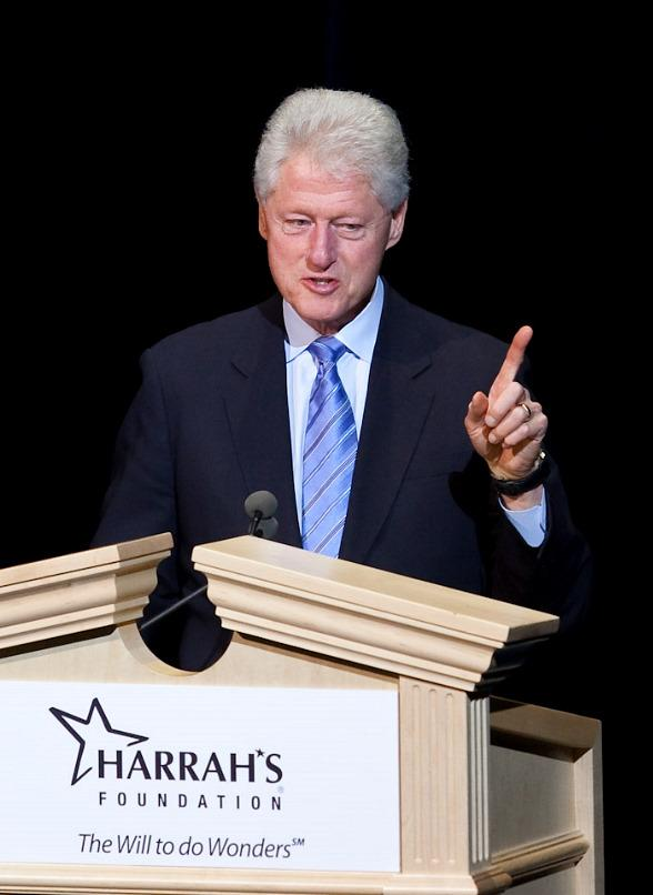 Bill Clinton speaks at The Colosseum