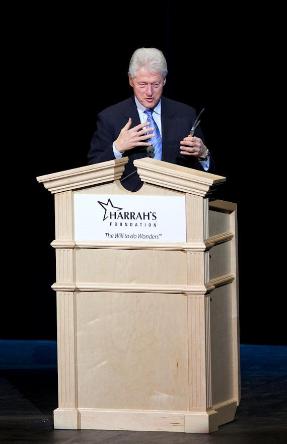 Bill Clinton speaks at The Colosseum in Las Vegas