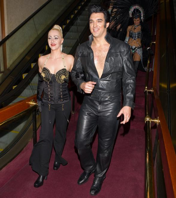 Madonna and Elvis impersonators from Legends in Concert