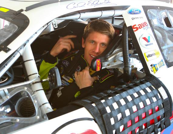 Carl Edwards, strapped in and ready to race