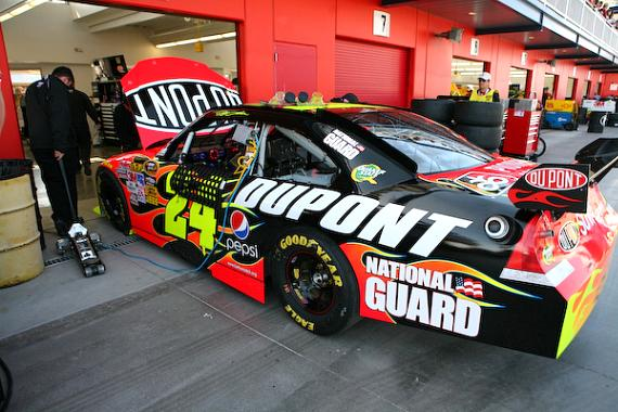 Jeff Gordon and #24 in the NEON Garage
