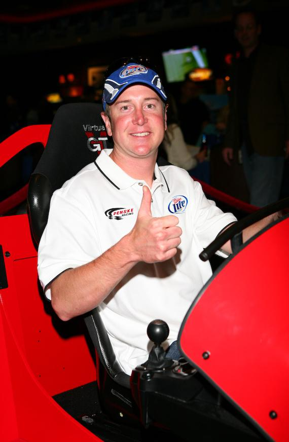 Kurt Busch at Racecar Simulator Challenge Event at Sierra Gold