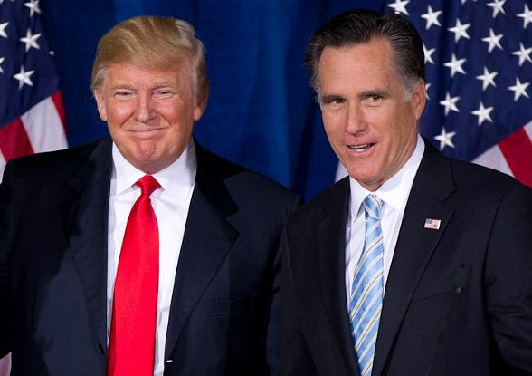 Donald Trump Endorses Mitt Romney at Trump International Resort in Las Vegas