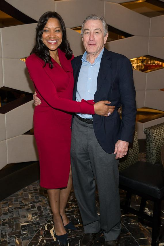 Robert DeNiro and his wife Grace DeNiro at Nobu Hotel at Caesars Palace in Las Vegas