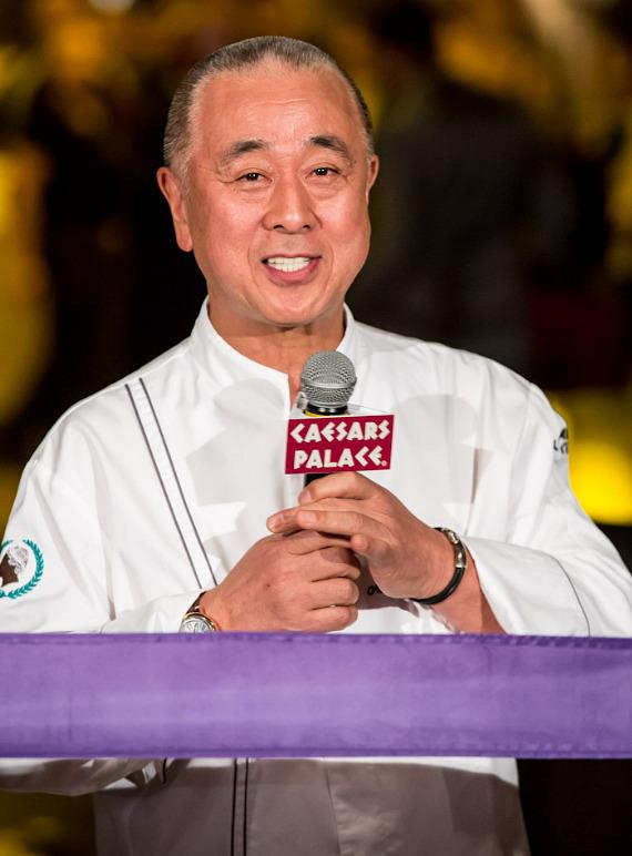 Chef Nobu Matsuhisa speaks at ribbon-cutting ceremony