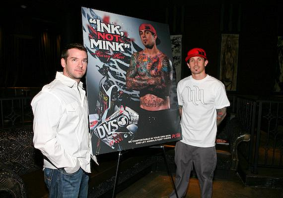 Ad Photographer Sabin Orr and Carey Hart show the new 'Ink, Not Mink' Peta Ad at Wasted Space