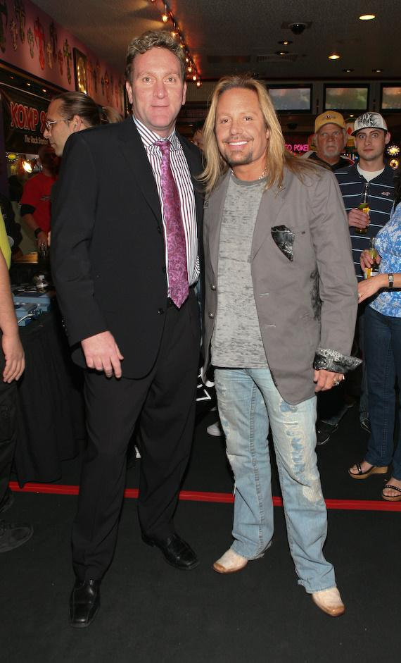 Vince Neil and Flamingo President Don Marrandino