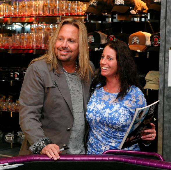 Vince Neil Greets Fans in Vince Neil Ink at O'Sheas