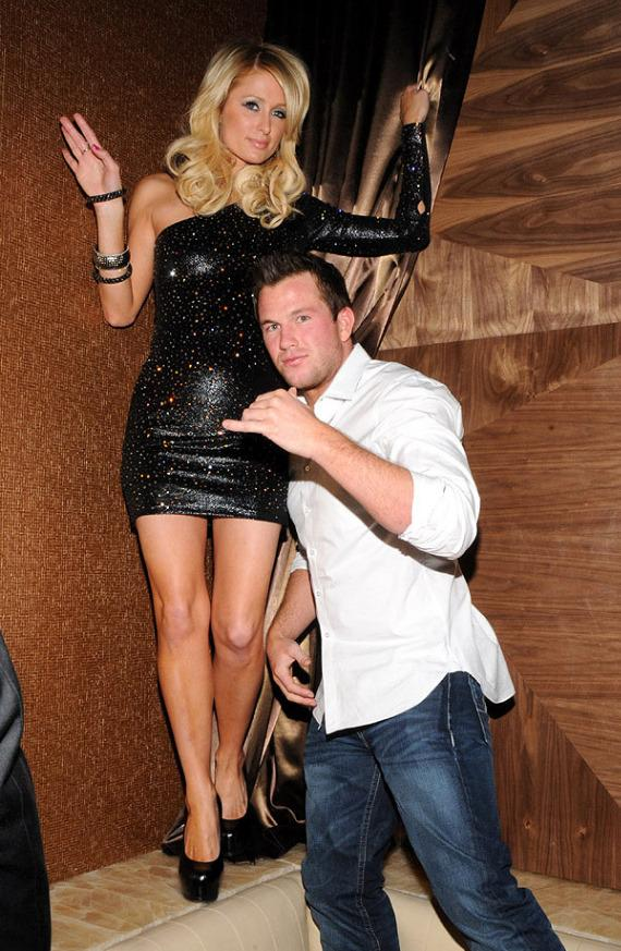 Paris Hilton and Doug Reinhardt dancing at Vanity at Hard Rock