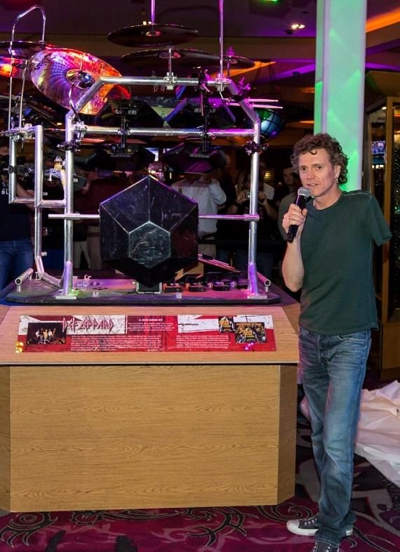 Rick Allen of Def Leppard Explains his Drum Kit's Significance to Fans at Hard Rock Hotel & Casino