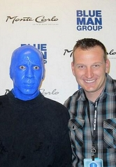 NASCAR driver Michael McDowell spotted at Blue Man Group inside Monte Carlo Resort and Casino March 7