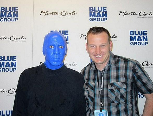Michael McDowell spotted at Blue Man Group inside Monte Carlo Resort and Casino March 7