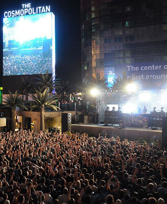 Justice performs at The Boulevard Pool at The Cosmopolitan of Las Vegas